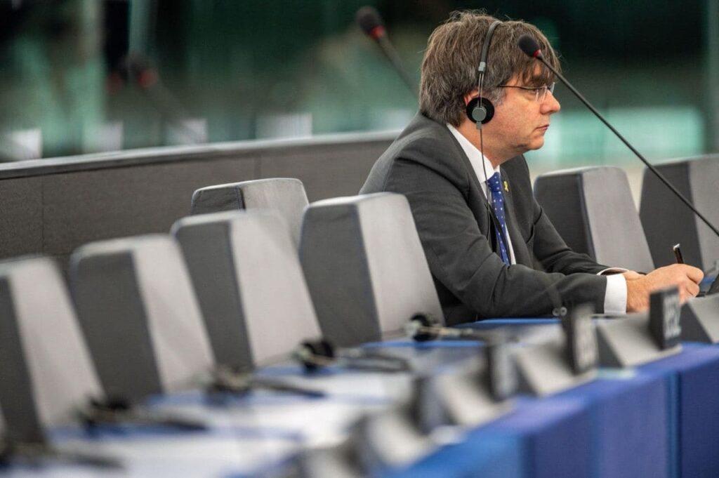 Puigdemont, solo en el Parlamento Europeo